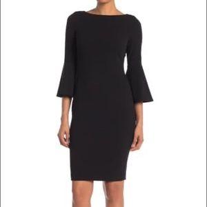 Calvin Klein Bell Sleeve Pearl Dress